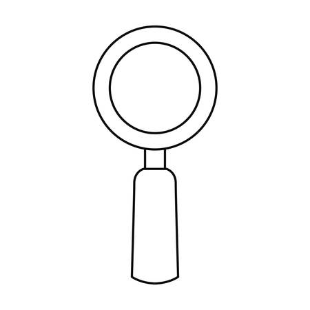 magnifying glass search icon on white background vector illustration outline