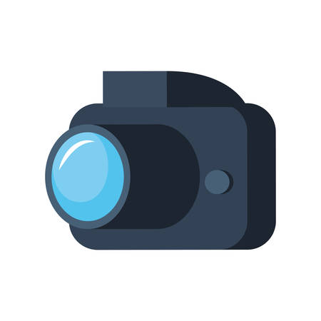 photography camera device white background vector illustration Illustration