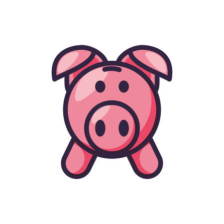 piggy bank isolated icon vector illustration design Illustration