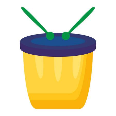 carnival bongo instrument icon vector illustration design Archivio Fotografico - 124906013