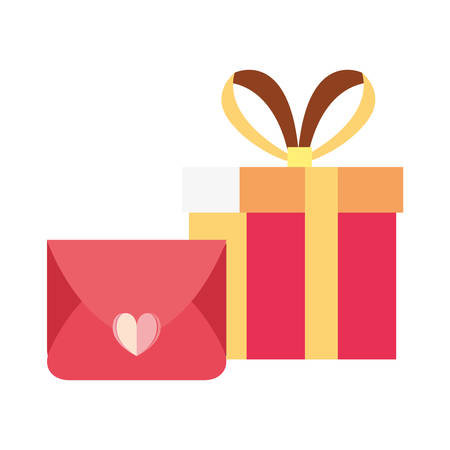 gift box surprise mail white background vector illustration