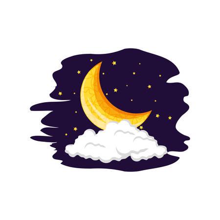 ramadan kareem card with moon at night vector illustration design Фото со стока - 124986480