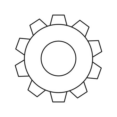 gear cogwheel mechanic on white background vector illustration design 写真素材 - 124986729