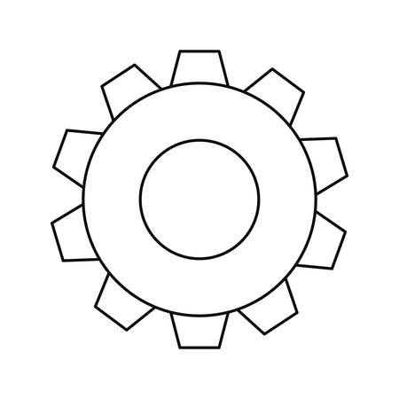 gear cogwheel mechanic on white background vector illustration design Illustration