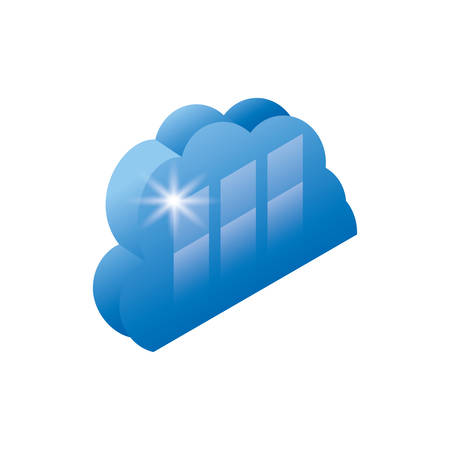 cloud computing server icon vector illustration design