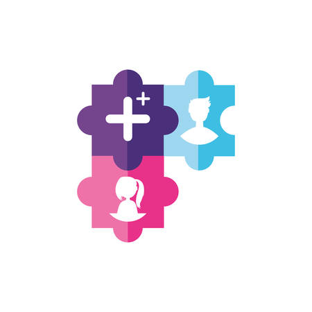 users account  and add symbol vector illustration design