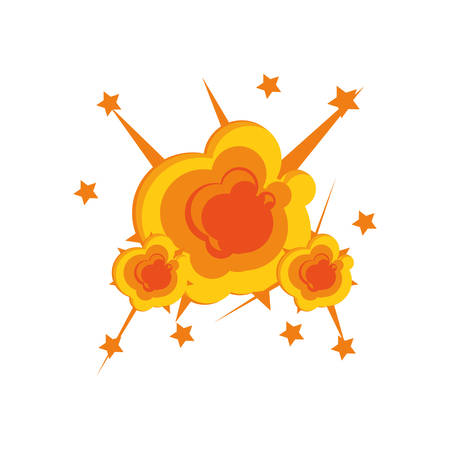 explosion pop art isolated icon vector illustration design