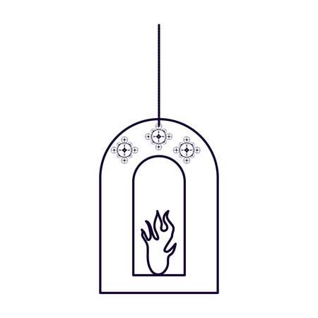 Ramadan Kareem lamp hanging vector illustration design Фото со стока - 124988214