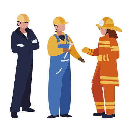 group of professional workers characters vector illustration design Banco de Imagens - 124988289