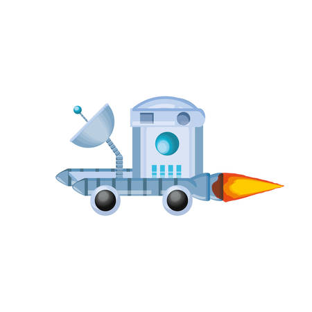 space explorer vehicle icon vector illustration design