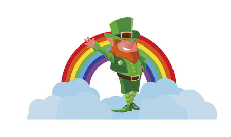 saint patrick lemprechaun character vector illustration design