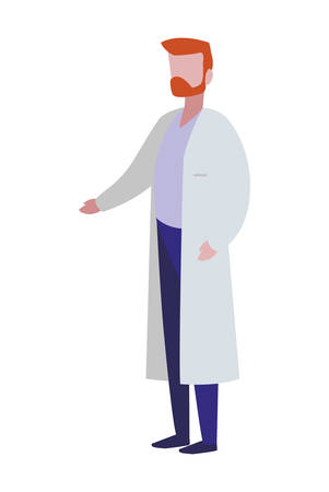 male doctor professional character vector illustration design