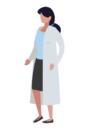 female medicine worker with uniform character vector illustration design Zdjęcie Seryjne - 124997696