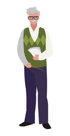 teacher male avatar character vector illustration design