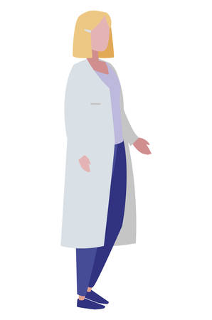 female medicine worker with uniform character vector illustration design  イラスト・ベクター素材