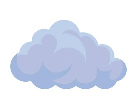 Diseño aislado del ejemplo del vector del icono del cielo de la nube