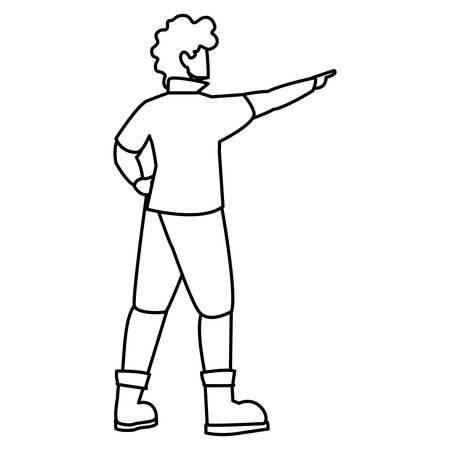 adventurous man avatar character vector illustration design