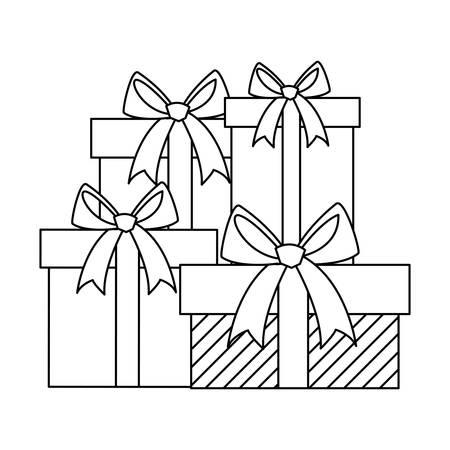 gifts boxes presents icon vector illustration design Archivio Fotografico - 125156458