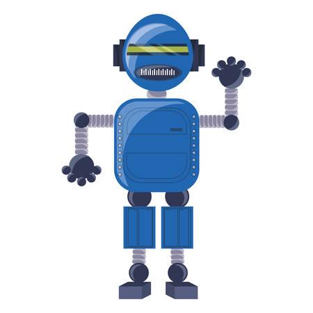 cartoon robot icon over white background colorful design vector illustration Ilustración de vector