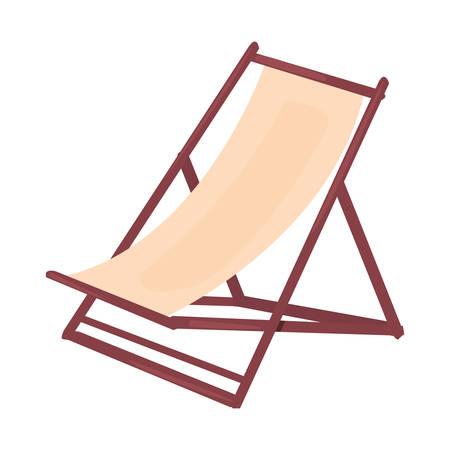 summer time holiday beach chair   vector illustration Çizim