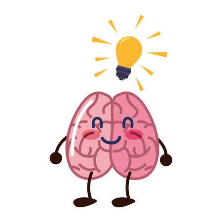 brain cartoon education creativity idea vector illustration