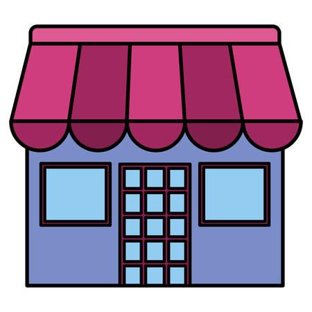 store building facade icon vector illustration design  イラスト・ベクター素材