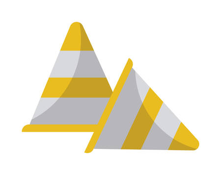 signaling cones isolated icon vector illustration design