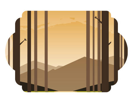 beauty forest scene icon vector illustration design