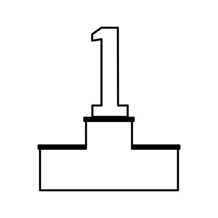 podium with number one vector illustration design Illustration