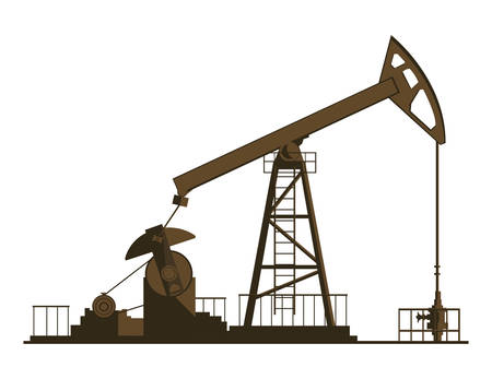 oil industry excavation plant vector illustration design