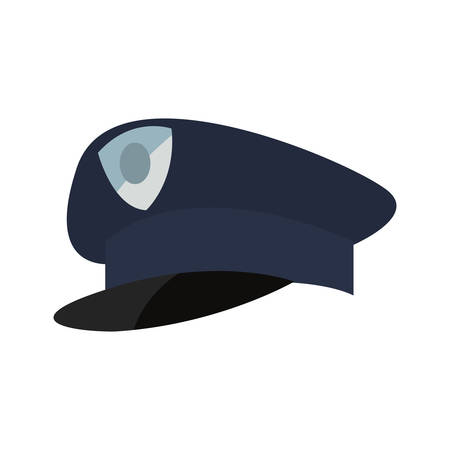 policeman hat icon vector illustration design image Illustration