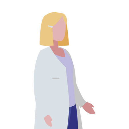 female doctor professional character vector illustration design Иллюстрация