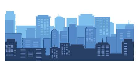 buildings metropolis cityscape silhouette vector illustration design Illusztráció