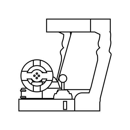 retro console video game machine vector illustration design