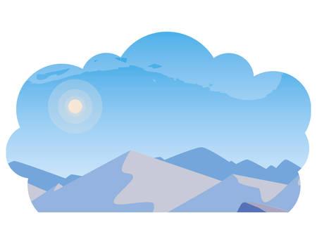 beautiful snowscape scene icon vector illustration design Illusztráció