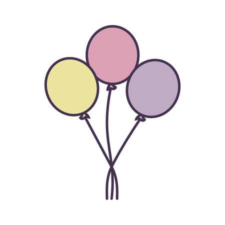 balloons helium isolated icon vector illustration design