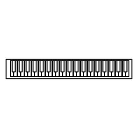 piano keyboard isolated icon vector illustration design Vectores