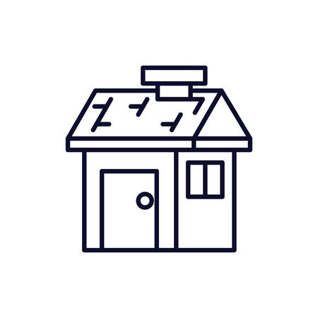 house facade isolated icon vector illustration design 向量圖像