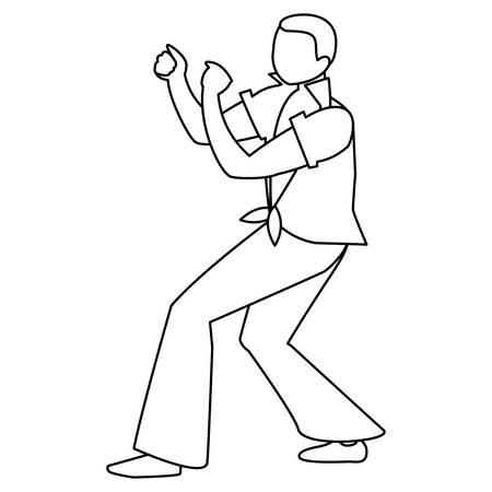 black tropical musician character vector illustration design Ilustração