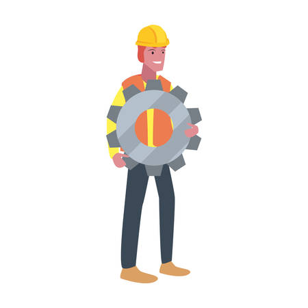 construction worker gear vector illustration design image