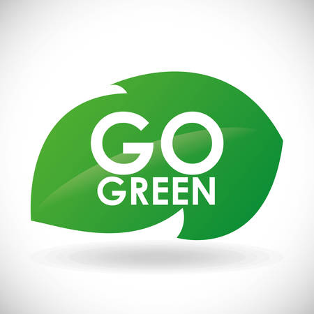 Go green digital design, vector illustration eps 10. 向量圖像