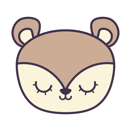 head of cute porcupine animal isolated icon vector illustration design