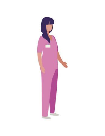 beautiful stylist worker character vector illustration design Illustration
