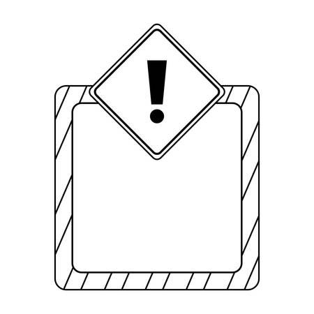 signaling alert isolated icon vector illustration design