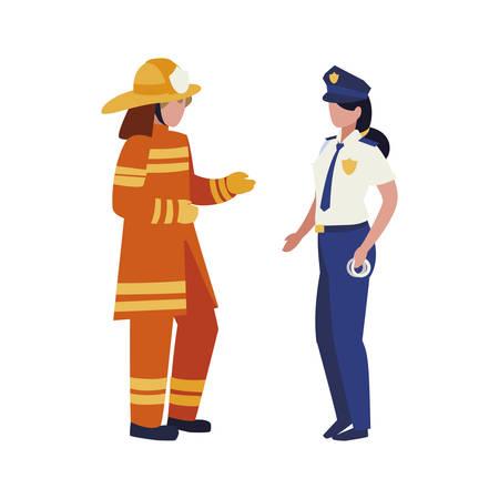 couple of professional workers characters vector illustration design Ilustración de vector