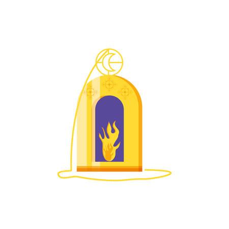 Ramadan Kareem lamp hanging vector illustration design Imagens - 128540849