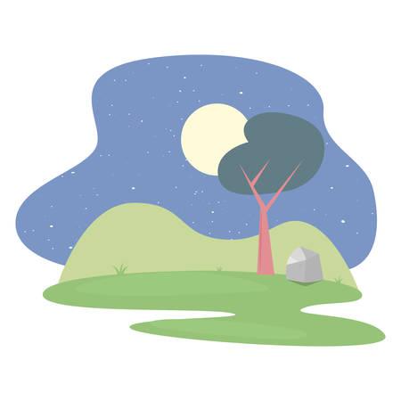tree folige nature botanical on white background vector illustration