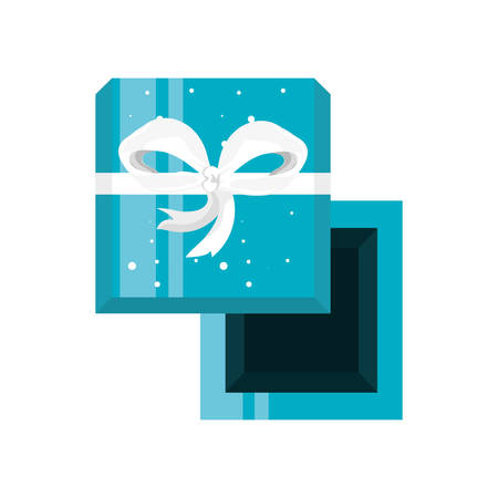 view aerial of gift box present icon vector illustration design