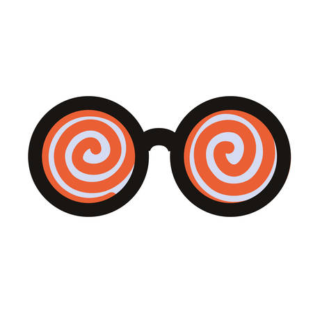crazy glasses accessory on white background vector illustration Иллюстрация