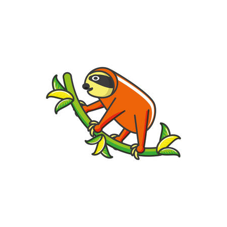sloth animal isolated icon vector illustration design